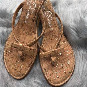 Shoes - Luisa D'orio cork Sandals